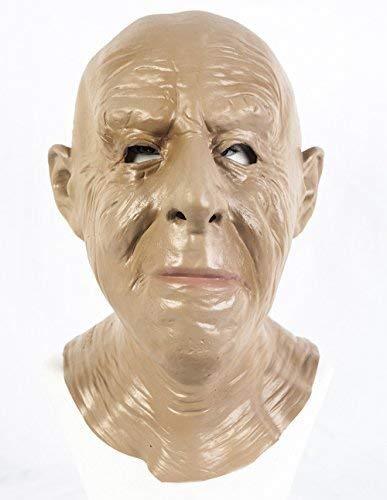 De Rubber Plantation TM 619219293952 Realistische Oude Man Latex Masker OAP Grandad Fancy Jurk, Unisex-Volwassene, One Size