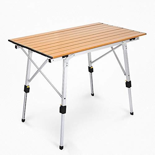 ZA Draagbare lichtgewicht aluminiumlegering heftafel buitenshuis in hoogte verstelbare klaptafel voor camping, strand, achtertuin, barbecue, party, picknick