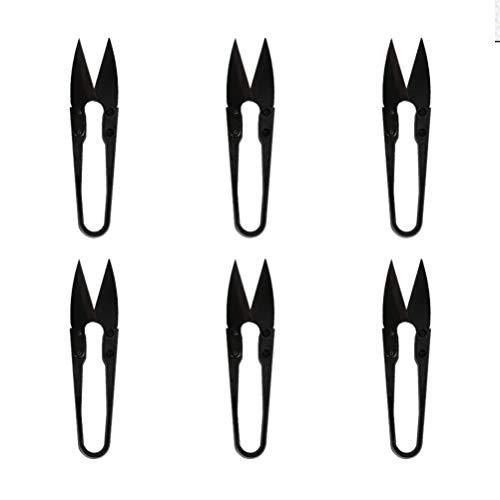Healifty 6 Piezas Tijeras de Coser en Forma de U Hilo Cortador de Hilo Mini Recortes Tijeras de Bordado Pinzas de Bordado para Suministros de Manualidades de Puntada Diy