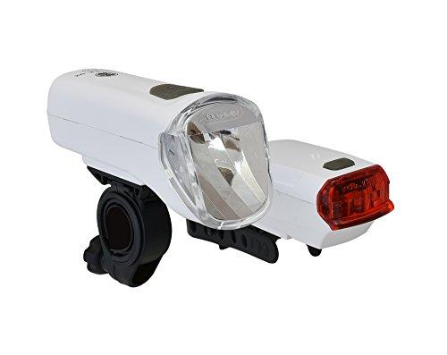 Büchel LED-Batterieleuchtenset TrioLux Pro, 60 Lux, StVZO zugelassen, weiß, 51125481