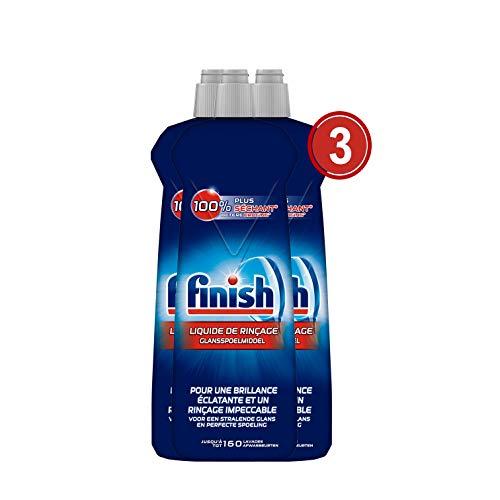 Finish Liquide de Rinçage Lave-Vaisselle Brillance et Séchage 800 ml - Lot de 3
