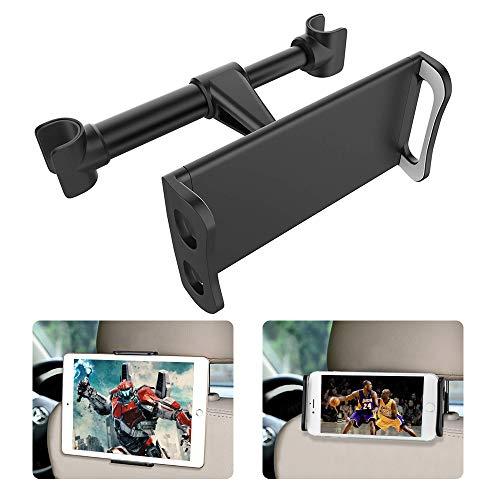 FAPPEN Tablet Halterung Auto, Universal Tablet Halterung : KFZ-Kopfstützen Halterung für Pad Air Mini, Pad 2018 Pro 9.7, 10.5, Tab, Smartphone und Tablet mit 4.4~11 Zoll - Schwarz (Schwarz)