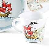 Kahla 32D200A76644C Kids Schatzpirat Porzellan Kindergeschirr-Set für Jungen Geschirr-Set bunt rund 3 teilig Set Tasse Suppenteller Teller - 4