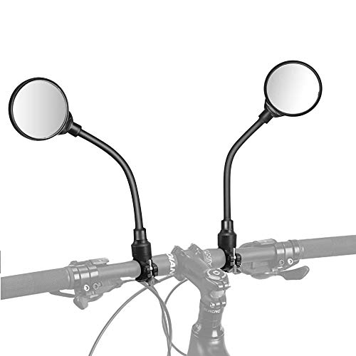 TOCYORIC Espejo Retrovisor de Bicicleta,360° Adjustable para Bicicleta Manillar,Espejor Rotativo Universal,Ángulo Amplio para Carretera Montaña