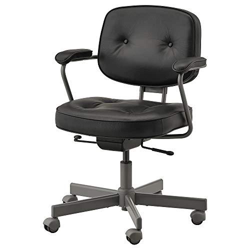 ALEFJÄLL krzesło biurowe 64 x 64 cm Błyszczący czarny
