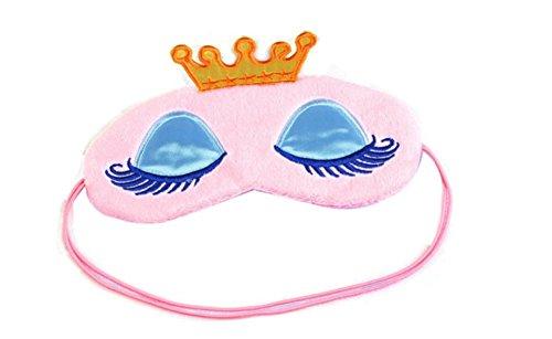 Drawihi Augenmaske Damen Prinzessin Augenbinde Schlafmaske Reisen Schlaf-Beihilfen Komfortablen (Rosa) 17*11cm