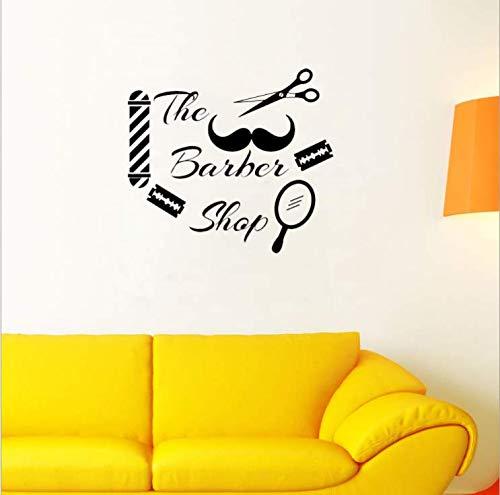 Ymran Scheren Haircut Stickers Barber Shop Sofa Achtergrond Glas Reclame Raam Plezier Decoratieve Muurstickers 57 * 63Cm