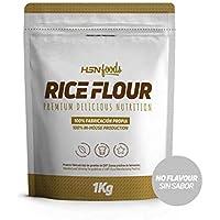 Harina de Arroz de HSN | Rice Flour | Energía Saludable 100% Natural | Formato de Finísima Textura en Polvo | Vegana, Sin Gluten, Sin Lactosa, Sin Soja, Sin Sabor, 1Kg