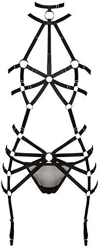 Grey Velvet 2-teiliges Harness Dessous Straps Set XS/S