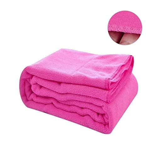 Xiaobing 1 Toalla de baño Absorbente de Secado rápido de Fibra Ultrafina, Toalla de baño para Mujer, Rosa, 70x140cm