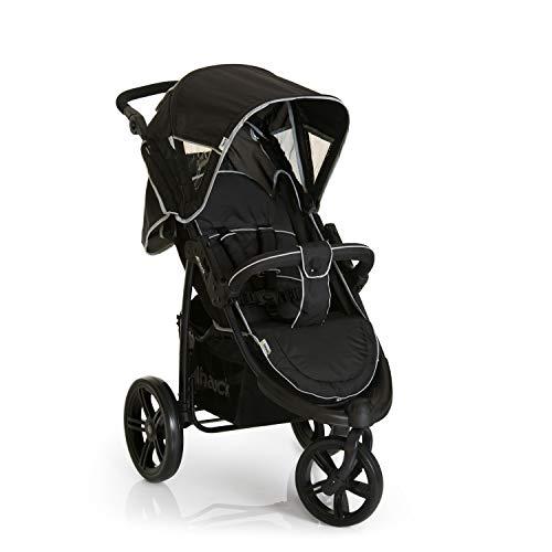 Hauck Viper SLX - silla de paseo de 3 ruedas, respaldo reclinable, plegado compacto, para recien nacidos y apto hasta 22 kg, manillar regulable, capota XL, Smoke Grey (gris)