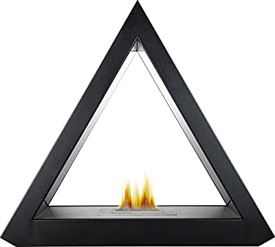 Adam The Geo Bio Ethanol Fireplace Suite in Black, 39 Inch