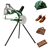 IRONWALLS Shoe Mending Machine, Manual Hand Cobbler Shoe Repair Machine, Heavy Duty Dual Cotton Nylon Line Canvas Leather Sewing Machine Stitching for Bags Tents Cloth DIY