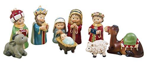 Children's Christmas Pageant Nativity Scene, 9 Piece Set