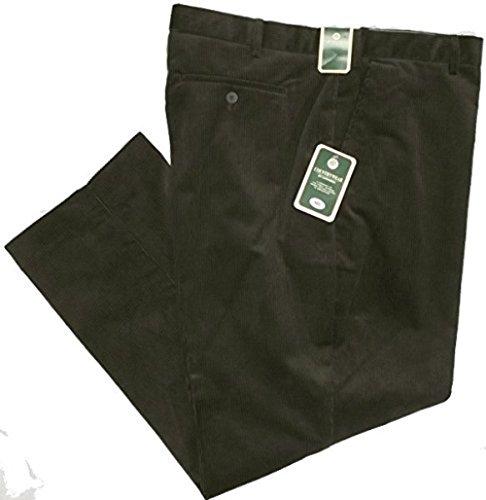 Carabou - Pantaloni in velluto a coste spessi, lunghezza gamba: 31 cm, colore: verde oliva Verde oliva. 121,92 cm