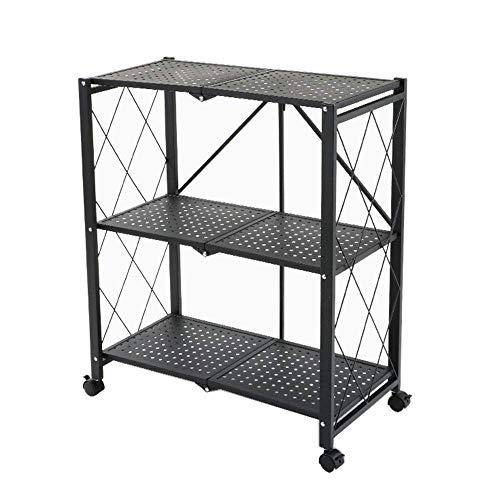 LIPENLI Cocina estante de la cocina del horno microondas del estante, estante del pote 3layer, estante de especia, la sala de la carretilla 71 * 38 * 86cm