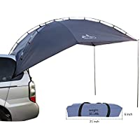 HUKOER Cuenta de auto para acampar Al aire libre Camping Familia de auto Cuenta de auto Cuenta de lado Car Car Hatchback para auto, para camping y familia, tienda de campaña en verano