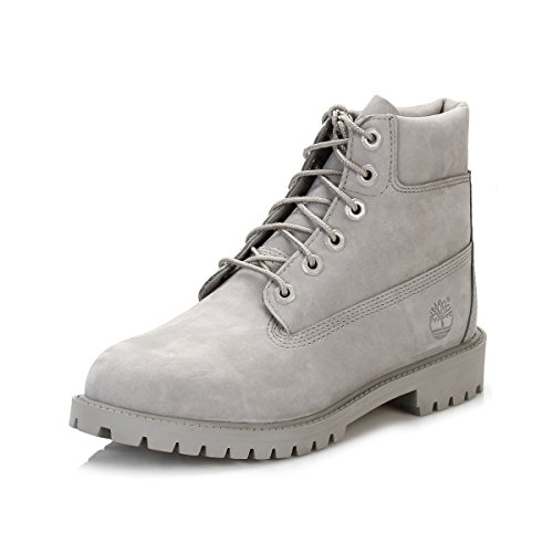 Timberland Unisex 6 Inch Premium Waterproof (Junior) Klassische Stiefel, Grau (Medium Grey Nubuck), 39 EU