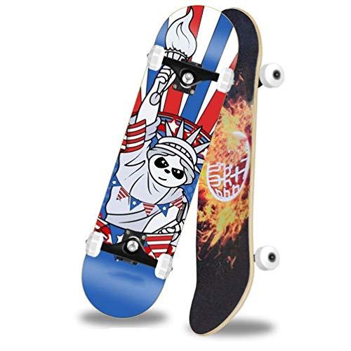 Kinder Skateboard, 129 Skateboard Kinder Teen Jungen Mädchen Erwachsene Anfänger Double Rocker Vierrad Skateboard Für Kinder/Jugendliche/Erwachsene Anfänger Skateboard