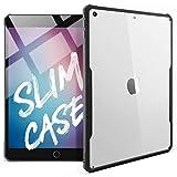 TineeOwl iPad 9.7 (2018 / 2017 Version) Ultra Slim Clear Case, Flexible TPU, Absorbs Shock, Lightweight, Thin (Black)