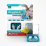 Alpine Pluggies bouchons d'oreilles Protection Auditive pour enfants et petits conduits auditifs - Pour voler, étude et nager - Matériel confortable hypoallergénique - Boules Quies réutilisables