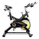 gridinlux. Trainer Alpine 7000. Bicicleta Spinning Pro Indoor. Volante de Inercia 15 kg, Nivel Avanzado, Sistema de Absorción de Impactos, Pantalla LCD, Fitness