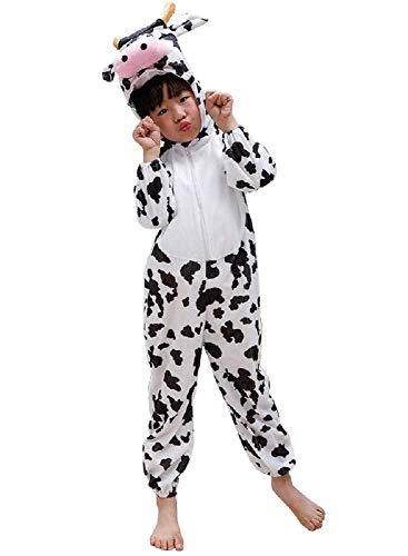 (Taglia M) Costume Da Mucca - 3-4 Anni - Travestimento Carnevale - Halloween - Bambina -Bambino - Unisex -Cosplay