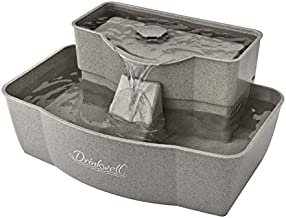 PetSafe Drinkwell Multi-Tier Cat and Dog Drinking Fountain, 100 Ounce Capacity Automatic Water Dispenser for Pets, Fresh Free-Flowing Stream, Easy to Clean Hygienic Durable Material, Filters Included