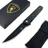 AUBEY Tanto Klappmesser Outdoor Einhandmesser Angel Survival Messer Scharf Jagdmesser EDC Pocket...
