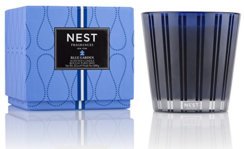 NEST Fragrances 3 Wick Candle- Blue Garden, 21.2 oz