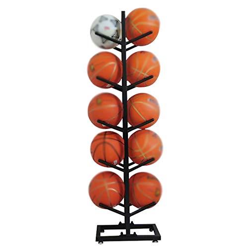 Cesta de recogida de bola Cesta Baloncesto Almacenamiento Rack Ball Pantalla Bola de almacenamiento Rack Adecuado para el hogar Cesta de recogida de bola ( Color : Black , Size : 40x25x155cm )