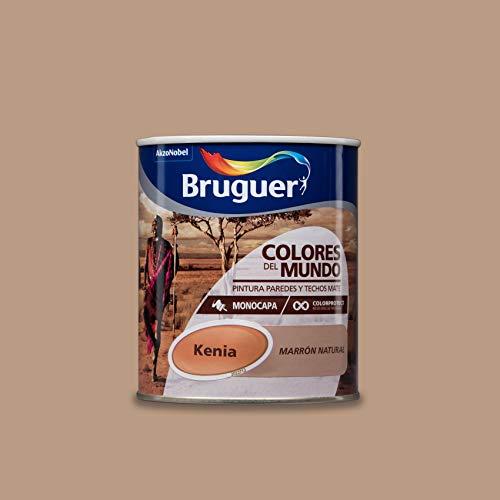 Bruguer Colores del Mundo Pintura para paredes monocapa Kenia Marrón Natural 0,75 litros