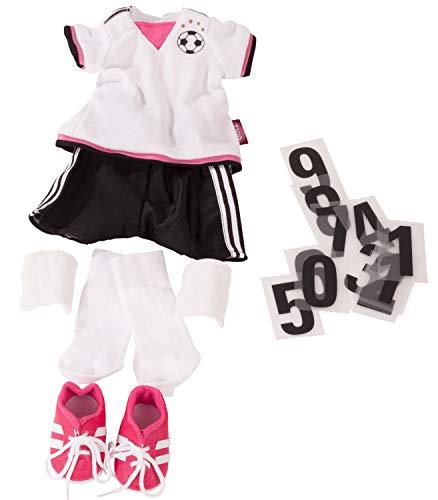 Götz 3403054 Completo da calcio Soccer Girl - Abbigliamento per bambola misura XL - set 18 pezzi di vestiti e accessori per bambole in piedi alte 45-50 cm