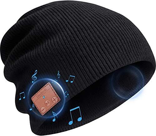 aolongwl Wintermütze Mütze Hut Bluetooth Kopfhörer, Wireless V 5.0 Stricken Musik...