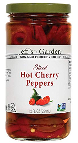Jeff's Naturals Sliced Hot Cherry Peppers, 12 Ounce (Pack of 6)