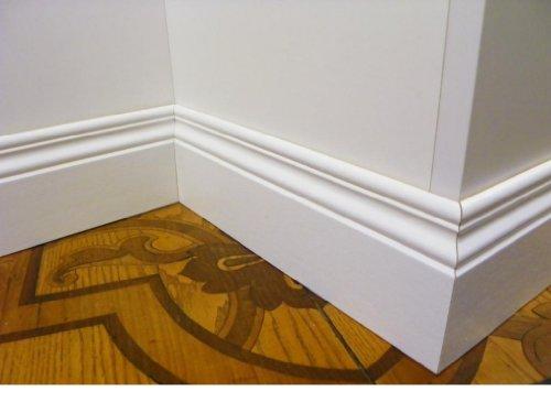 battiscopa in legno bianco sagomato inglese ducale 10 centimetri (prezzo al metro)