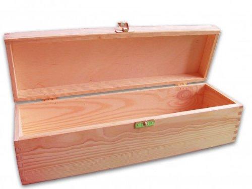 MidaCreativ Weinkiste, Weinbox für eine Flasche, Geschenkbox Holzkiste, Holz unbehandelt