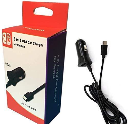 Theoutlettablet® oplader voor sigarettenaansteker met type-C aansluiting & USB-poort - High Speed 5 V/2,1 A - voor Nokia 6.1/7 Plus/8