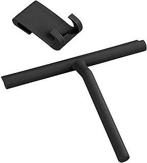 WENKO Badkamerwisser silicone Mola zwart - douchewisser, siliconen, 21 x 24,5 x 4 cm, zwart