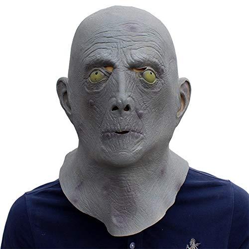 LSGNB Testa di Vecchio Uomo in Lattice Horror Maschera Aliena con Cappuccio Cosplay Puntelli Divertenti Halloween