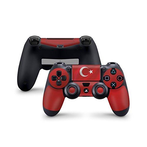 Skins4u Aufkleber Skin Designfolie Controller Schutzfolie kompatibel zu Sony Playstation 4 Controller PS4 Türkei Waving Flag