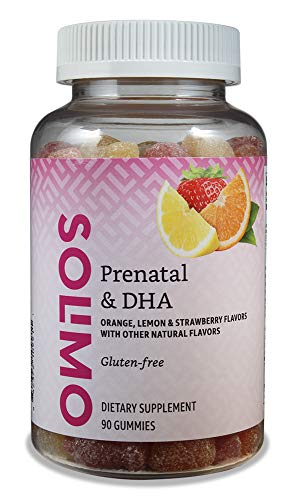 Amazon Brand - Solimo Prenatal Vitamins & DHA - Pregnancy...