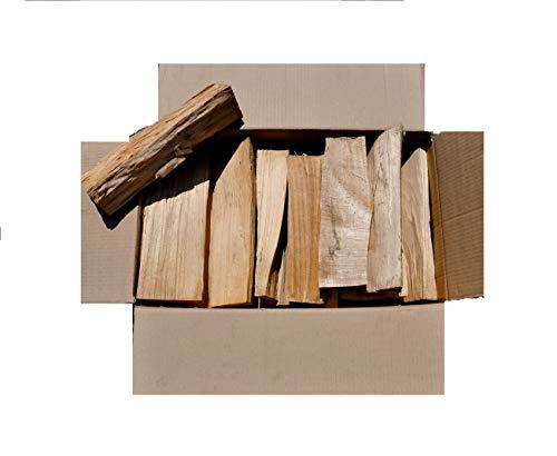 60 kg Brennholz reine Buche kammergetrocknet und ofenfertig 30 -33 er Länge + Muster natürliches Anzündholz/Kienspäne