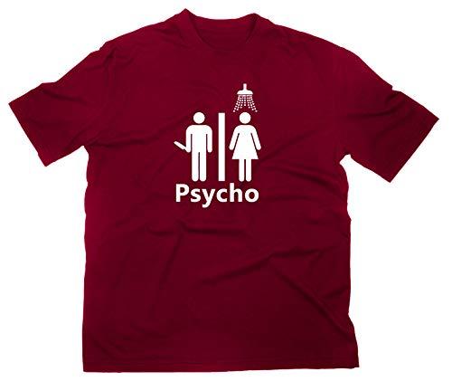 #2 Psycho Fan T-Shirt Fanshirt, XL, maroon