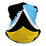 Flag Map of St Lucia Face Mask Bandana Cooling Neck Gaiter Summer Breathable UV Dust Protection Balaclava Face Cover for Outdoor Sports