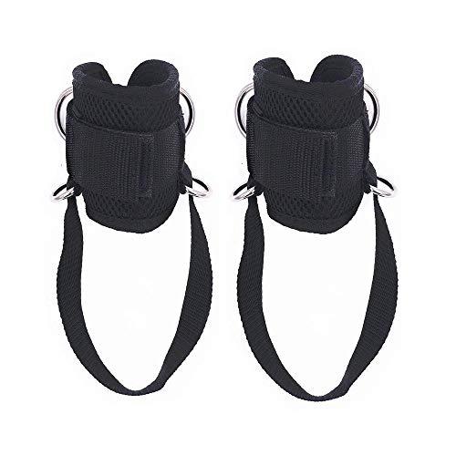 Fácil de llevar 2 PCS Dring la correa del tobillo del tobillo puños for gimnasia Glute Ab pierna pierna entrenamientos levantamiento de pesas ejercicios de estiramiento del tobillo cinturón de anclaje