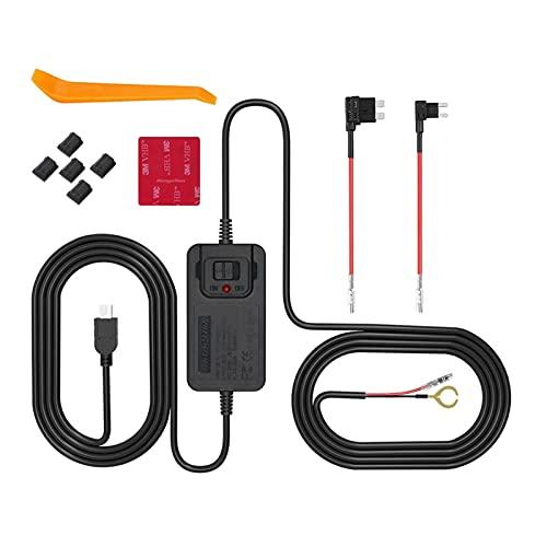 XIAOCHEN Store Coche DVR Hardwire Kit Mini USB Kit de Alambre Duro Fusible Dash CAM 12V-36V a 5V 1.5-2.0A Cargador de cámara Cable de alimentación Cable de alimentación 2 Cable de Fusible