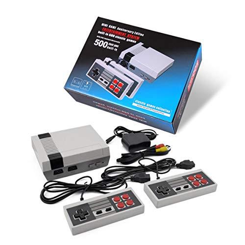 Familiari Classic Mini Console di Gioco con 500 Videogioco AV-Esportazione,Porta ricordi Felici dell'infanzia