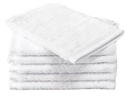 De Witte Lietaer 171141 Contessa Luxe Lot de 6 Gants de Toilette Coton Blanc 15 x 22 cm