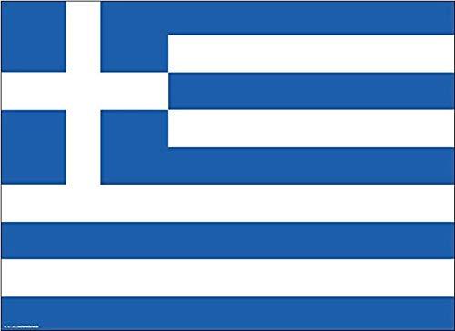 Tischsets   Platzsets - Griechenland Flagge - 10 Stück - hochwertige Tischdekoration 44 x 32 cm für griechische Feiern, Mottopartys & Fanabende